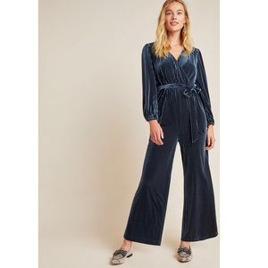 Anthropologie Samantha Velvet Jumpsuit